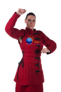 Medieval FEMALE Gambeson Thick padded Costumes dress under sca armor Aketon