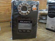 Majestic 84-Inch Room Darkening Lined Grommet Window Curtain Panel in espresso