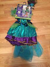 Medium Kids Girls Halloween Party Peacock Costume Dress up Pretend Play Tutu