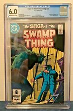 SAGA OF THE SWAMP THING 21 CGC 6.0 O-W/WP NEW ORIGIN ALAN MOORE 1984