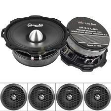 """American Bass GF-6.5 L-MR 6.5"""" Midrange Speakers Godfather 600 Watts Max 4 Pack"""
