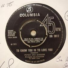 "Peter & Gordon(7"" Vinyl 1st Issue)To Know You Is To Love You / I Told You-Ex/VG+"