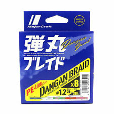 Dangan Braided Line X8 200m P.E 1.2 multi Db8-200/1.2mc/25lb (6222) Major Craft
