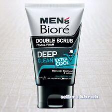 100 g. Men's Biore Double Scrub DEEP CLEAN EXTRA COOL Facial Foam Face Wash Men