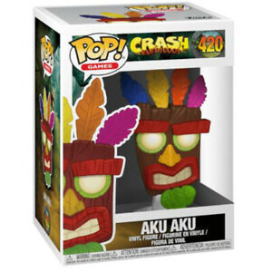 POP! Games Crash Bandicoot Aku Aku Mask Vinyl Figure 12cm Tall #420 from Funko