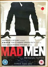Mad Men Season 3 DVD Box Set 2008 Mid-Century US Drama Series 3 Discs
