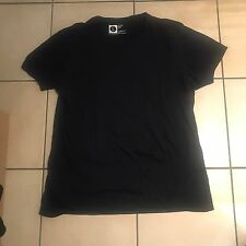 Navy Men's Slim Fit T Shirt With Round Neck - Size L