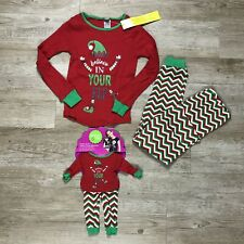 Dollie And Me Matching Pajamas Girls 8 Christmas Elf Doll Pj's Red