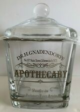 BELLA LUX Lidded Canister APOTHECARY Dr H Gnadendorff SILVER Cotton Balls GLASS