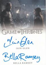 Game of Thrones S8 Dual Autograph Card - Iain Glen and Bella Ramsey