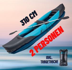 Kajak Kanu Schlauchboot aufblasbar mit Seesack Crivit 2 Personen Zubehör Paddel