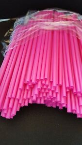 500 St.,Jumbo-Trinkhalme Maxi-Cocktail-Strohhalme 8 x 250 mm,Pink *EXTRA STARK*