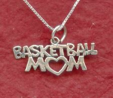 Basketball Mum Necklace Sterling silver New Solid 925 Mom