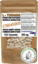100 Kapseln 500 mg L-Theanin 99 %. [Taurin 1 %. Nichtproteinogene Aminosäure]