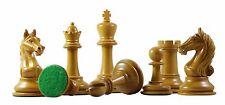 """Antique Warrior Premium Staunton 4"""" Ebony and Antiqued Box Wood Chess Pieces"""