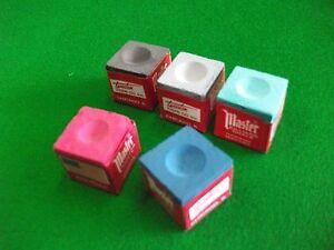 Multi - Colours Snooker/Pool Chalk (5 cubes)