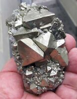 PYRITE OCTAHEDRAL CRYSTALS on MATRIX from PERU..............FAMOUS HUANZALA MINE