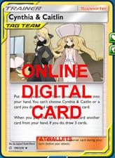 4X Cynthia & Caitlin 189/236 Cosmic Eclipse Pokemon Online Digital Card