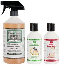 Kleen Green 24oz Insect Control Spray & SB Lice & Mite Shampoo & Body Wash 250ml