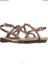 Kenneth Cole REACTION Lost Catch T-Strap Rhinestone Sandals, Rose Gold, 6 US /