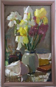 Pekar Ferdinand Gemälde Stillleben Blumen / Blumenstrauß in Vase 1991