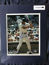 Chris Chambliss,New York Yankees, autographed 8x10 photo  COA! Matted to 11x14
