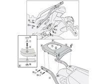 GIVI SPECIFIC REAR RACK TOP CASE MONOKEY TRIUMPH TIGER SPORT 1050 2013 SR6404