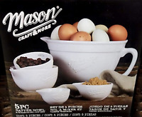 Mason Craft and More 5-Piece Batter Bowl & Measuring Cup Set