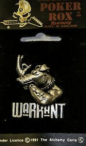 Poker Rox WARRANT Pin Clasp RARE!!  PC235