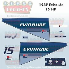 1990-91 Evinrude 25 HP Outboard Reproduction 15 Piece Marine Vinyl