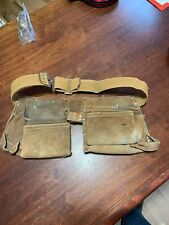 Leather Neck Atchison Leather Products Carpenters Tool Belt Adjustable Used