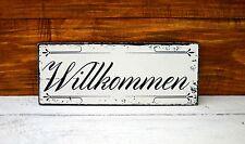 Shabby Chic Schild Vintage Nostalgie Wandschild Landhaus  Willkommen Türschild