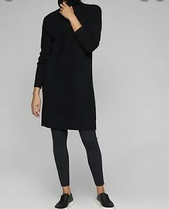 Athleta Long Sleeve Sweater Dress Black Women's Size Medium