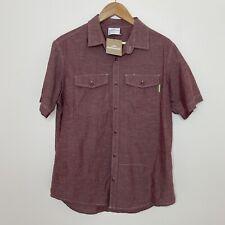 Kathmandu ORGANIC HEMP COTTON Men's Short Sleeve Button-Up Shirt Size Medium NEW