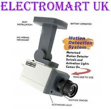 DUMMY FAKE DECOY CCTV SECURITY CAMERA FLASHING LED MOTION ACTIVATED