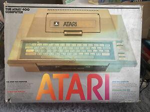 Atari 400 Computer In Box Excellent Condition Vintage Rare