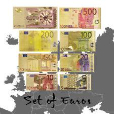 WR Billete de banco de oro del euro 8 PC Juego de regalo de 5 millones de euros