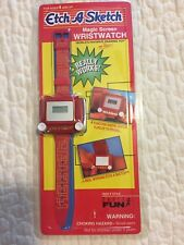 Etch A Sketch Red Magic Screen Wristwatch-Really Works-Rare-1995-NEW