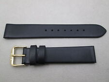 17mm men's soft genuine leather watch band strap black fits Hamilton Ventura