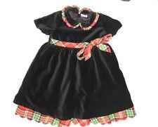 Hanna Andersson festliches Kleid Gr. 90/92 schwarz mit Schleife Samt Hannah