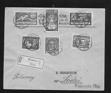 Poland:  1919 R-cover, Warsaw to Lodz