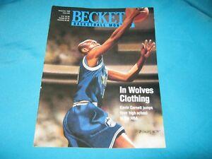BASKETBALL BECKETT MONTHLY NOVEMBER 1995 ISSUE #64 KEVIN GARNETT / ROBERT HORRY