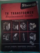 Vintage Stancor Tv Transformer Replacement Guide Catalog 1950s (?)