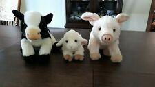 Webkinz Signature Lot Rare Retired Cow, Pig and Lamb.