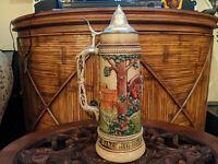 Large Beer Stein Gerz 2L West Germany Tankard Oktoberfest Vintage #3039 Mettlach