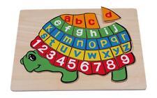 """Puzzle in legno alfabetico """"Tartaruga"""", cm 30x23"""