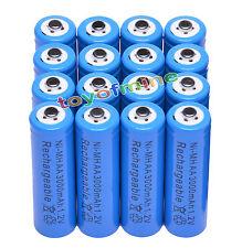 16x AA 1.2V 3000mAh Ni-MH batería recargable celular 2A / RC Azul