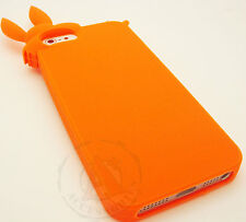For Apple iPhone 5 5S SE Rubber SILICONE Soft Gel Skin Case Cover Orange Rabbit