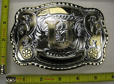 LETTER U METAL BELT BUCKLE INITIAL WESTERN DESIGN COUNTRY COWBOY RODEO NEW B435
