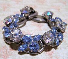 Vintage Verified Juliana Blue Rhinestone Bracelet Aurora Borealis Glass 517hz